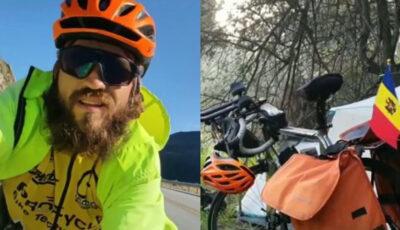 Un tănăr moldovean a parcurs cu bicicleta peste 23 de mii de km și a vizitat 30 de țări europene
