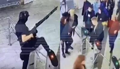 Momentul atacului din Perm, surprins  de camerele de supraveghere. Video