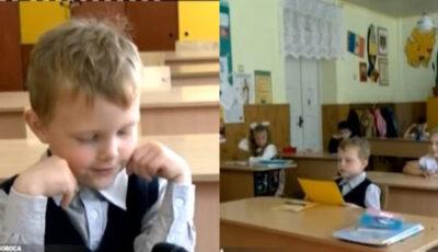 Un băiețel din Soroca, care a început clasa I, își uimește profesorii
