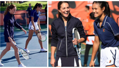 Spectaculos! Kate Middleton a jucat un meci de tenis cu tenismena Emma Răducanu