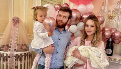 Kătălina Rusu s-a externat din maternitate. Cum a întâmpinat-o soțul și fiica mai mare