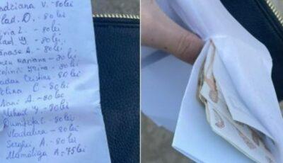 S-a pierdut un portmoneu cu bani și o listă. Se caută proprietarul