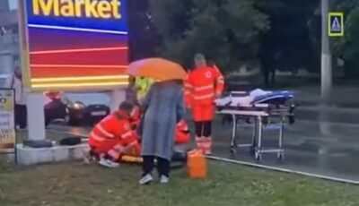 O femeie de 49 de ani a ajuns pe capota unui automobil, în timp ce traversa strada pe trecerea de pietoni