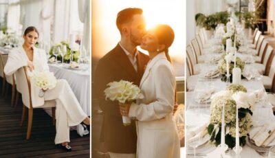 Imagini noi de la căsătoria Gabriellei Damir și a lui Roman Burlaca