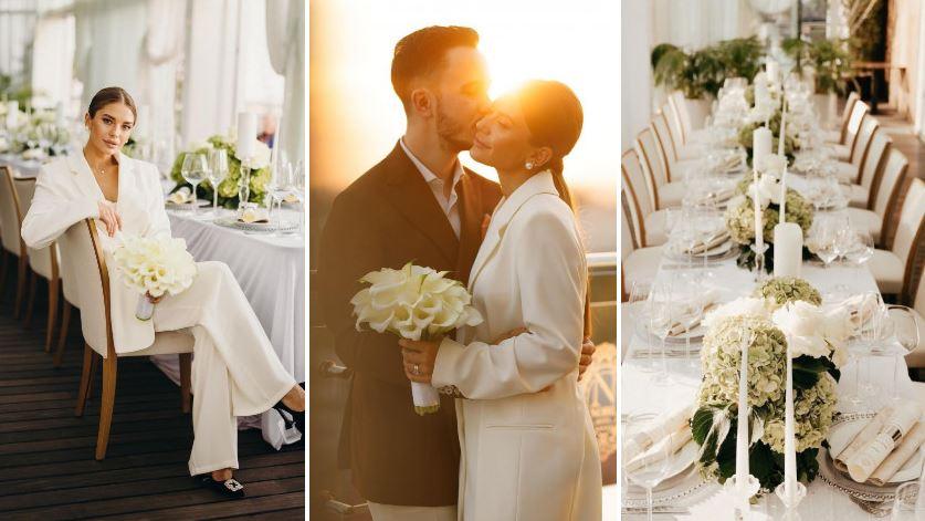 Foto: Imagini noi de la căsătoria Gabriellei Damir și a lui Roman Burlaca