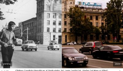 """Chișinăul ,,atunci și acum"""", într-o serie de fotografii uimitoare!"""