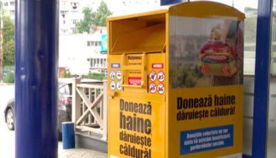 În sectorul Buiucani, doritorii pot dona haine în cadrul campaniei Banca de Haine