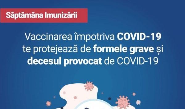"""Foto: Ministerul Sănătății lansează campania ,,Săptămâna Imunizării"""". Împreună oprim pandemia!"""