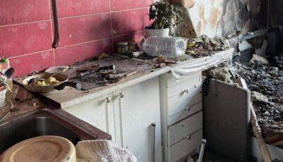 Ce a rămas în urma incendiului din sectorul Buiucani? Imagini de la fața locului