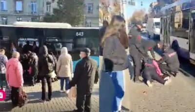 Scandal într-un autobuz din Capitală din cauza măștii de protecție. O femeie a leșinat