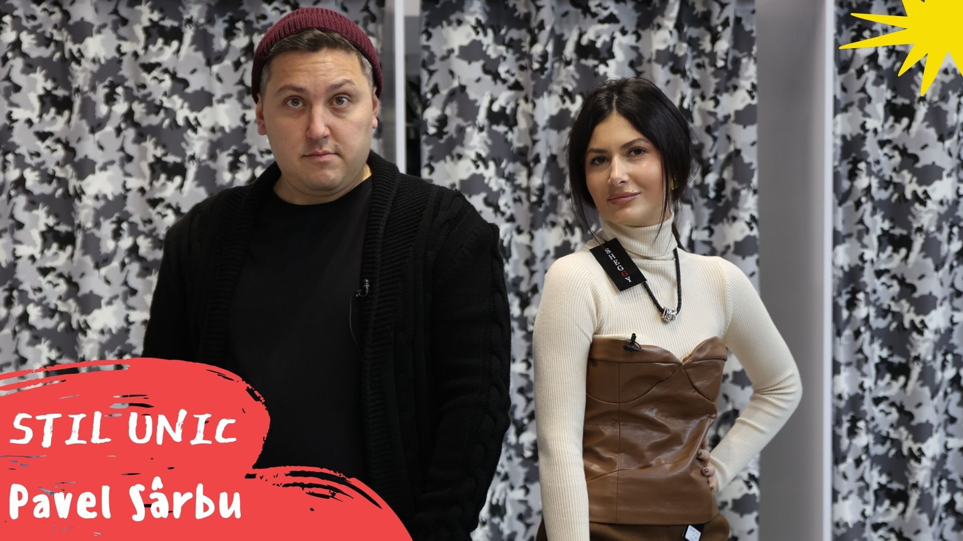 Foto: Pavel Sârbu îmbrăcat ca Monatik și pus să-i cumpere Nicoletei Adam o ținută