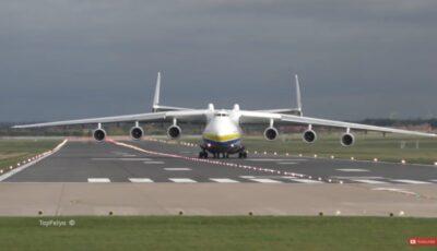 Cea mai mare aeronavă din lume a aterizat la București