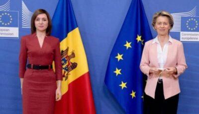 Ursula von der Leyen dă asigurări că Republica Moldova nu va rămâne fără gaze
