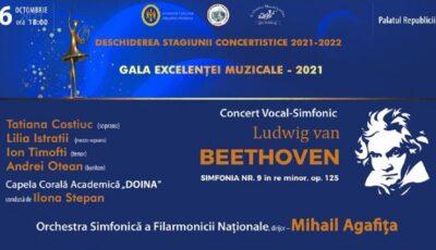 """Filarmonica Națională """"Serghei Lunchevici"""" își deschide stagiunea 2021-2022"""