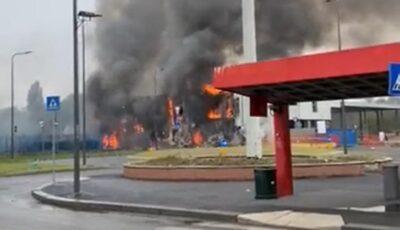Avion prăbușit pe o clădire la Milano. Opt morți, între care un copil