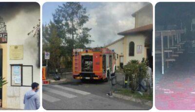 Incendiu devastator la o biserică românească din Italia. Pompierii n-au mai putut salva nimic