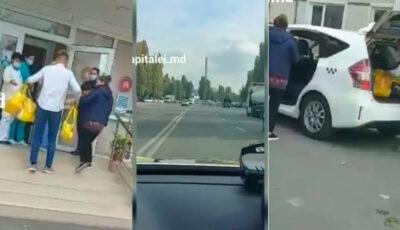 Video! O femeie însărcinată a fost ajutată de polițiștii din Capitală să ajungă la maternitate