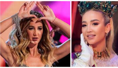 Olga Buzova, câștigătoarea titlului Miss Universe la un concurs de frumusețe