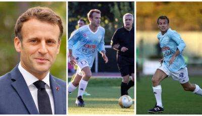 Emmanuel Macron, fotbalist pentru o zi. A jucat la un meci caritabil și a marcat şi un gol