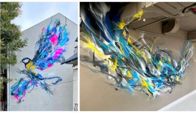 Un artist internațional faimos a realizat câteva picturi impresionante la Chișinău! Foto