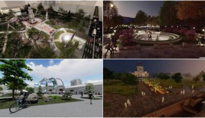 Cum ar putea arăta Grădina Publică și Parcul Catedralei din Capitală. Foto!