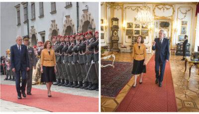 Maia Sandu, în vizită oficială în Austria, la invitația Președintelui austriac Alexander Van der Bellen