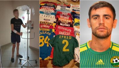 Fotbalistul Igor Armaș și-a vândut colecția de tricouri pentru a ajuta un adolescent care suferă de leucemie