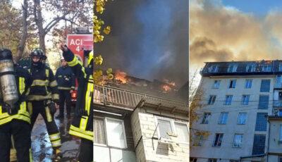 Un pompier a fost rănit în incendiul de la Buiucani