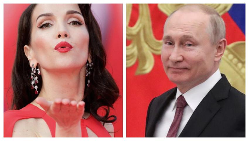 Foto: Vladimir Putin i-a acordat cetățenia rusă Nataliei Oreiro