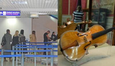 O vioară Stradivarius de aproximativ 2 milioane de euro, găsită în bagajul unei femei pe Aeroportul Chișinău