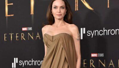 Angelina Jolie, apariție de senzație pe covorul roșu alături de cinci dintre copiii săi