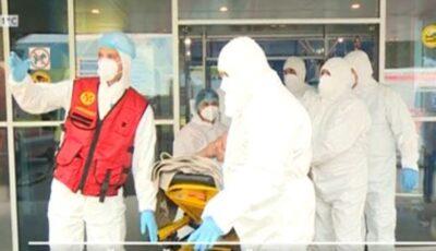 O femeie cu greutatea de peste 200 de kg a fost externată de la Centrul Covid cu ajutorul unei echipe de pompieri